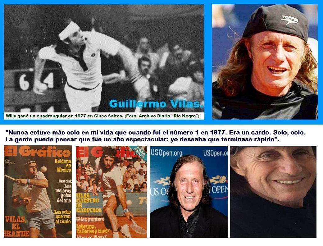 Guillermo Vilas, un grande de la Argentina.