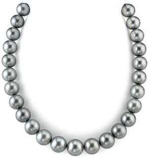 10-12.8mm Platinum Tahitian South Sea Pearl Necklace - AAAA Quality