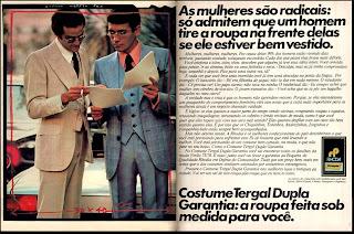 propaganda Tergal - 1975.  Moda anos 70; propaganda anos 70; história da década de 70; reclames anos 70; brazil in the 70s; Oswaldo Hernandez