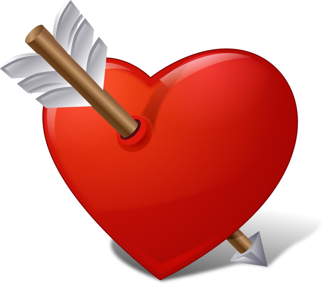 愛を表現したクリップアート There are icons related to Love イラスト素材2