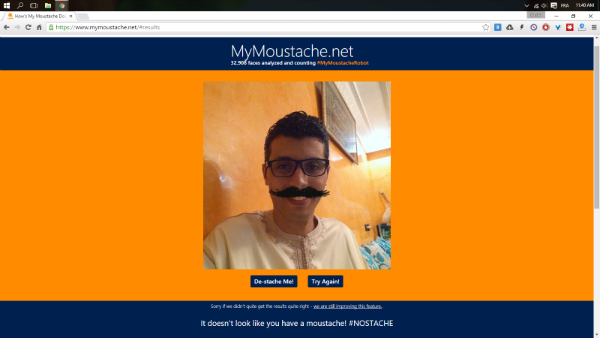 MyMoustache: خدمة جديدة وغريبة من مايكروسوفت ، هل جربتها !