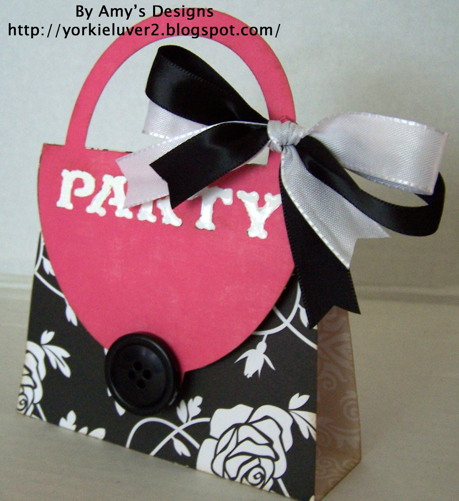 Crafting with Amy: Girls Makeup Party Invitation Purse