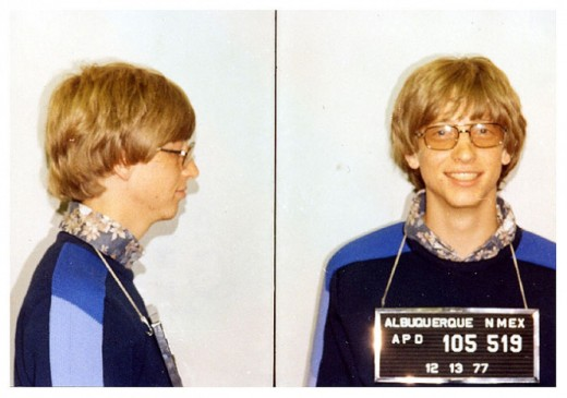 Bill Gates mugshot 1977