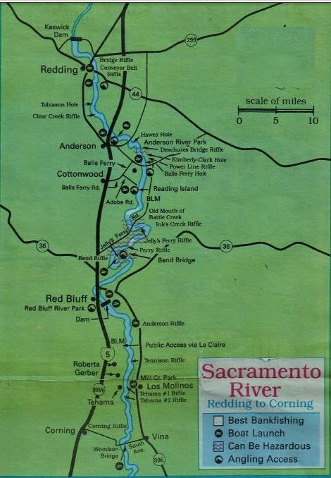 2017 sacramento river salmon fishing map and fishing
