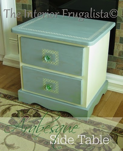 Matching Arabesque side table to compliment the headboard