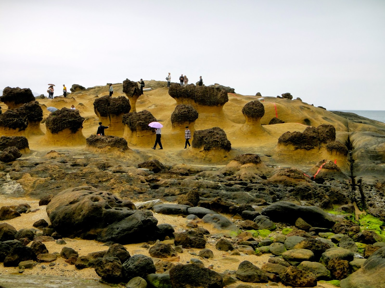 Mushroom Rocks Yehliu Geopark Taiwan
