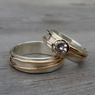 asymmetrical wedding rings