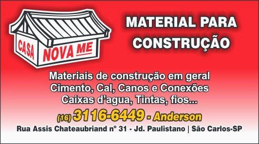 CASA NOVA MATERIAIS PARA CONSTRUÇÕES - SÃO CARLOS/SP