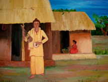 A typical Baul village in Birbhum West Bengal