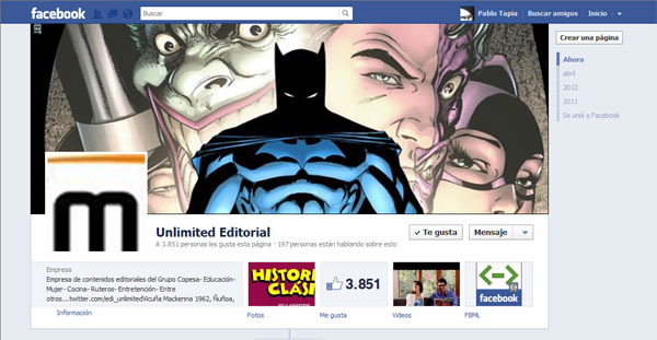 Facebook de Unlimited Editorial