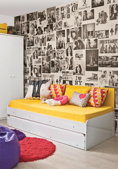 Ambientes & Ideias Como usar as paredes em favor da  ~ Vinil Quarto Jovem