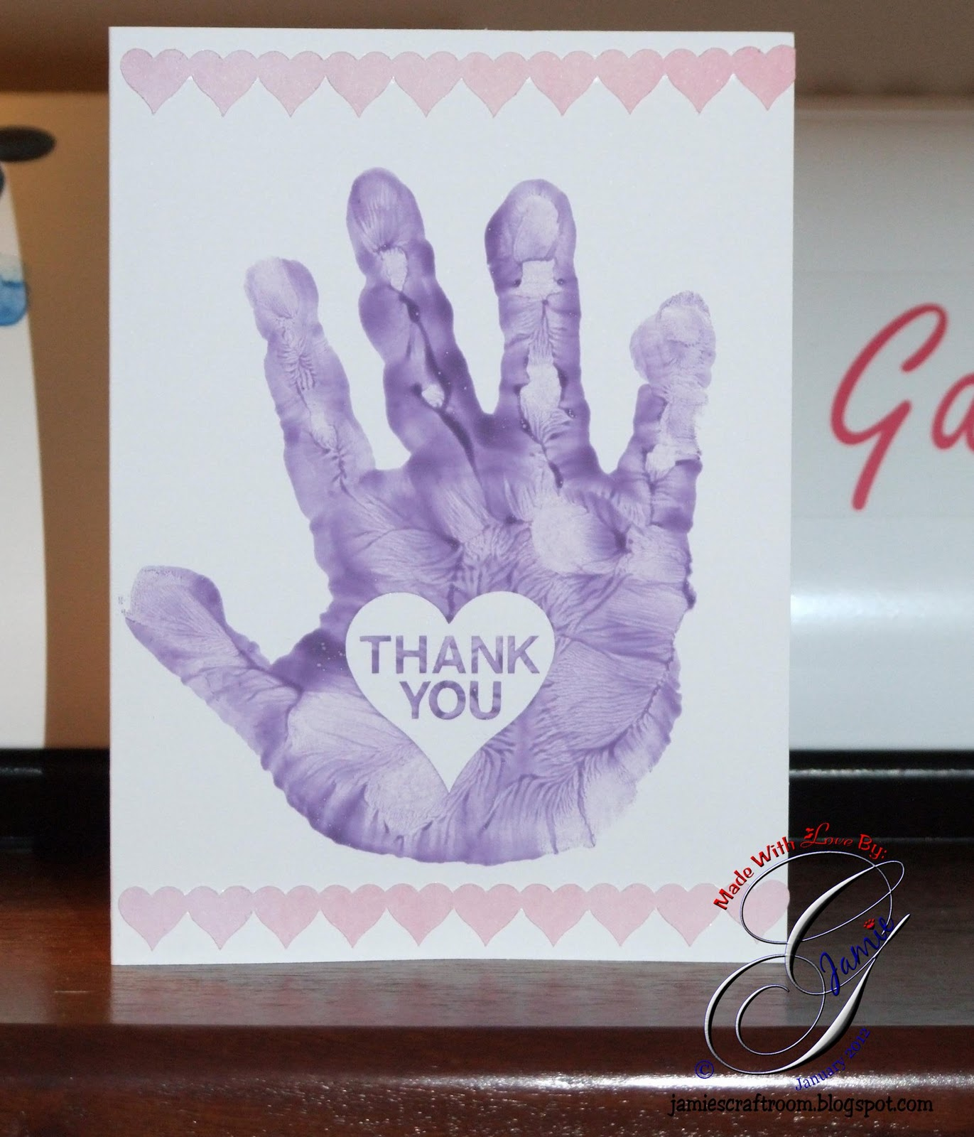jamie 39 s craft room mickaela 39 s thank you card