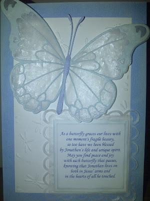sympathy, card, front, butterfly, Memory Box, Spellbinders, Lacey Squares