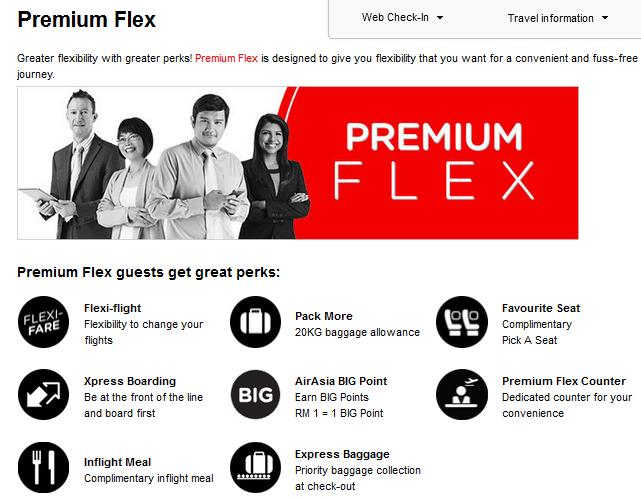 Airasia Premium Flex And Also at aa Premium Flex