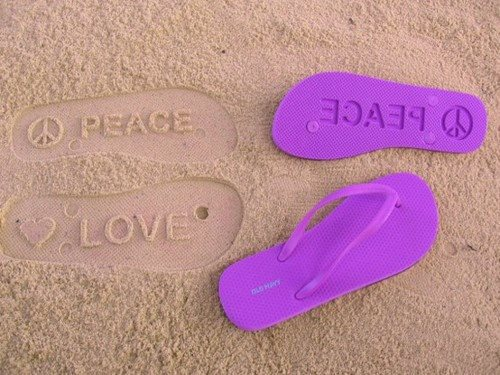 Leave Footprints Of Peace & Love Wherever You Go