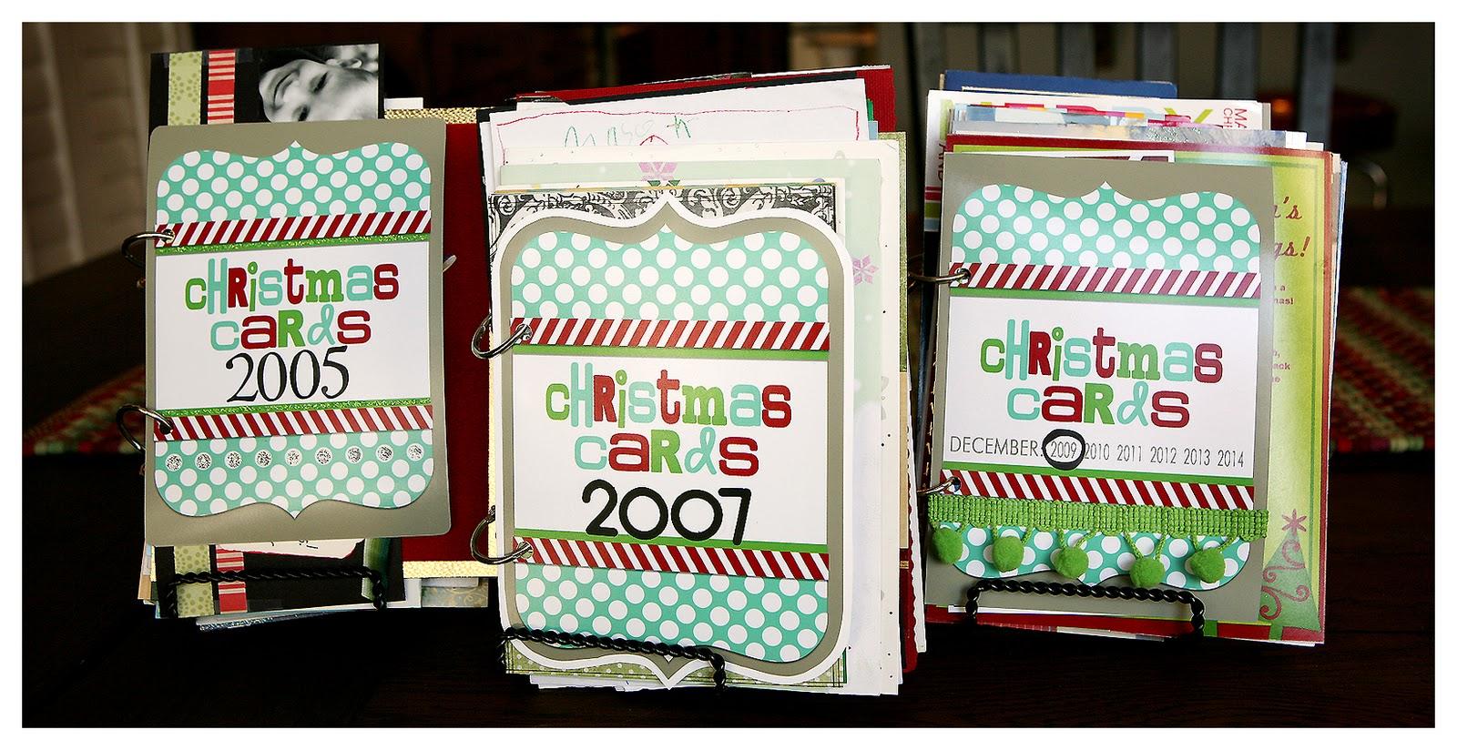 Elegant Christmas Card Book