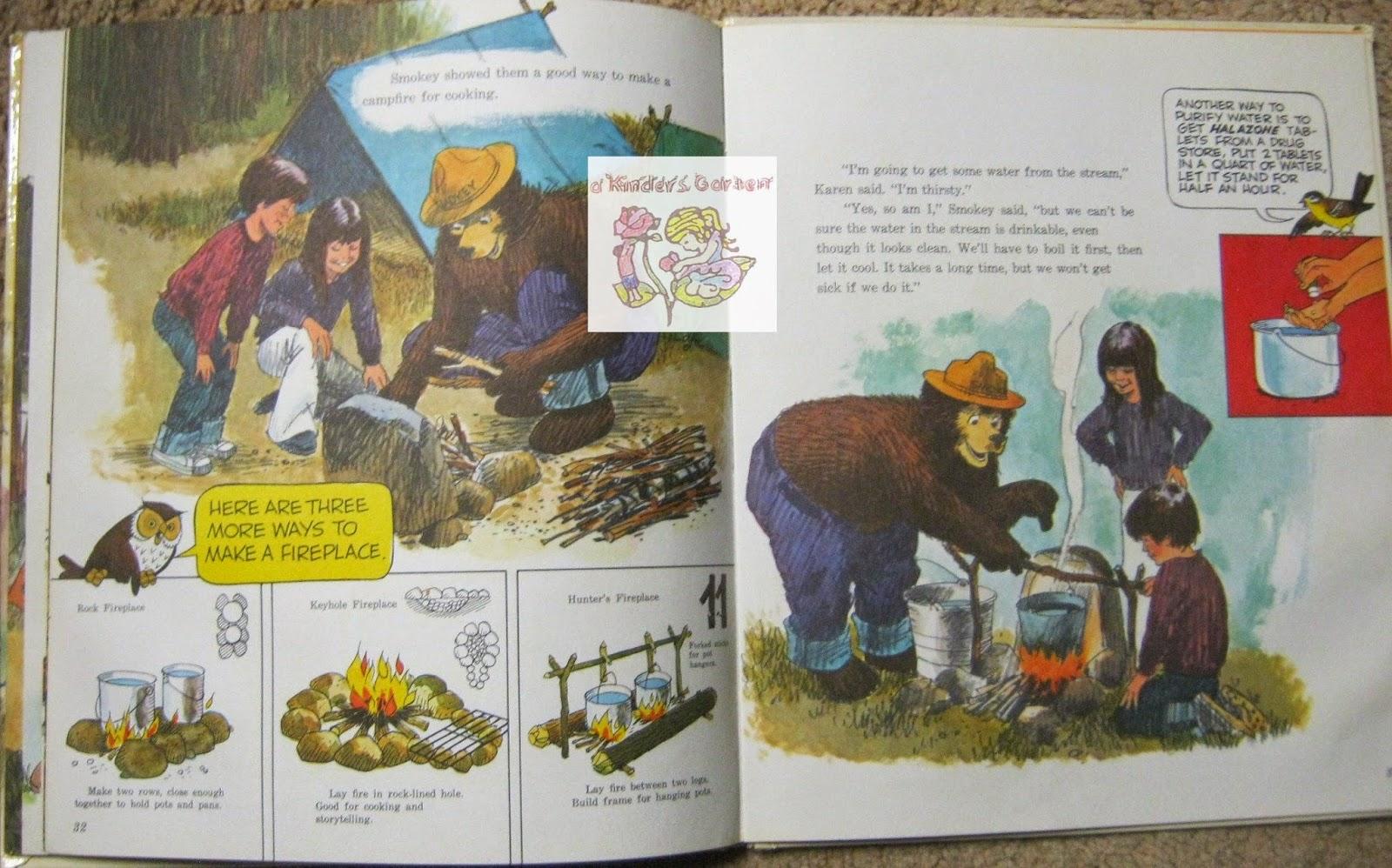a kinders garten vintage homeschool smokey the bear forest fire
