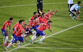 Nih Video Gol dan Hasil Akhir Chile Vs Argentina Skor 0-0 Penalti 4-1 di Final Copa America 2015 Foto AFPMartin Bernetti