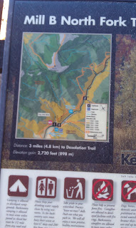 Mill B Fork Trail Map And Info Sign