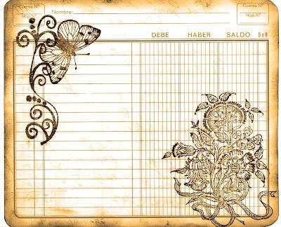 fondo vintage cuaderno de cuentas viejo sepia para manualidades de scrapbooking