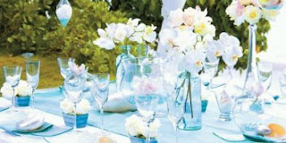 Wedding Decor, lounges decorated in Blue