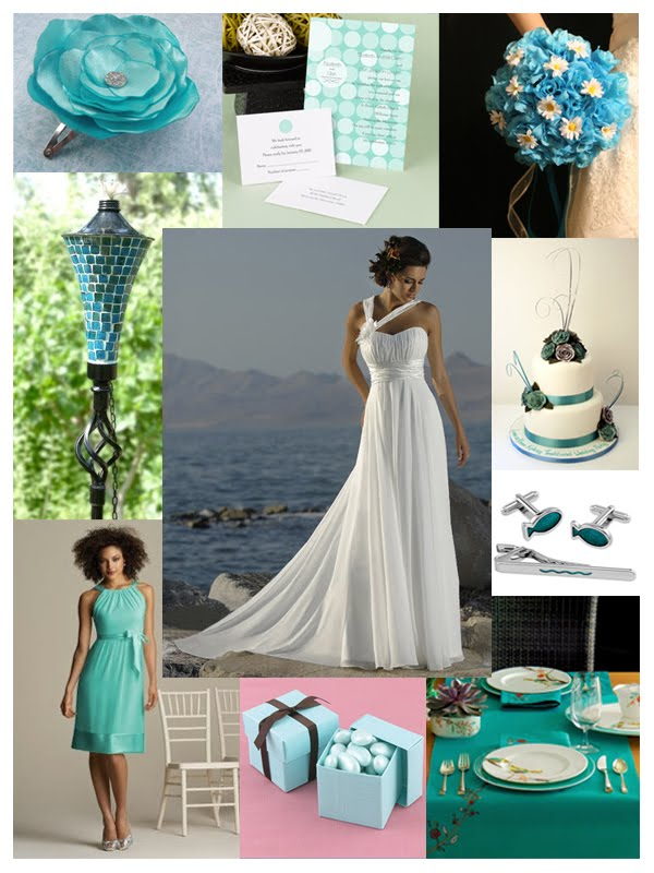 Prepare Wedding Dresses: A Turquoise and Lime Green Wedding