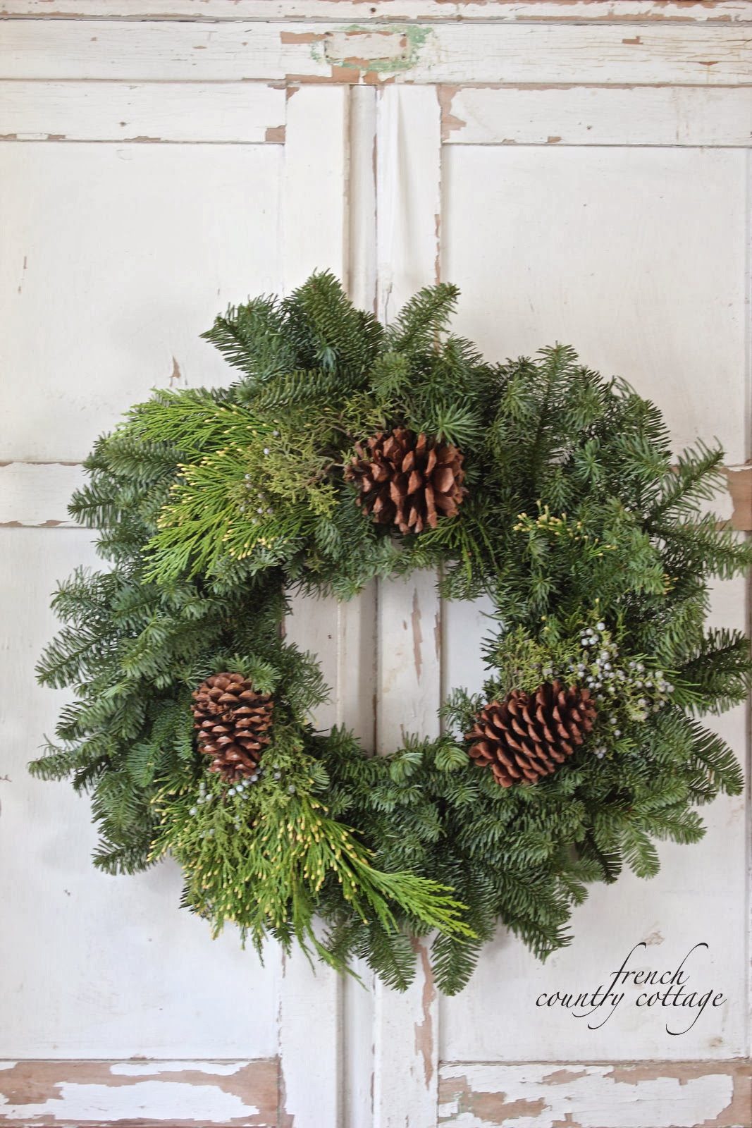 Simple christmas wreaths french country cottage Simple christmas wreaths