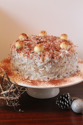 clotted cream and coconut cake