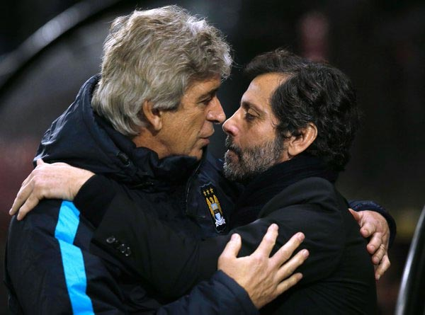 Caption This Photo Of Man City Manager Pellegrini And Watford Manager Flores