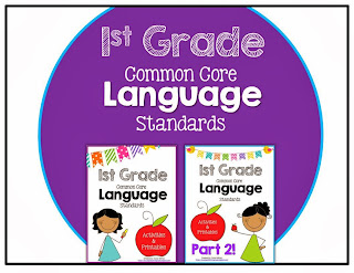 http://www.teacherspayteachers.com/Product/First-Grade-Common-Core-Language-Activities-Printables-BUNDLE-979040