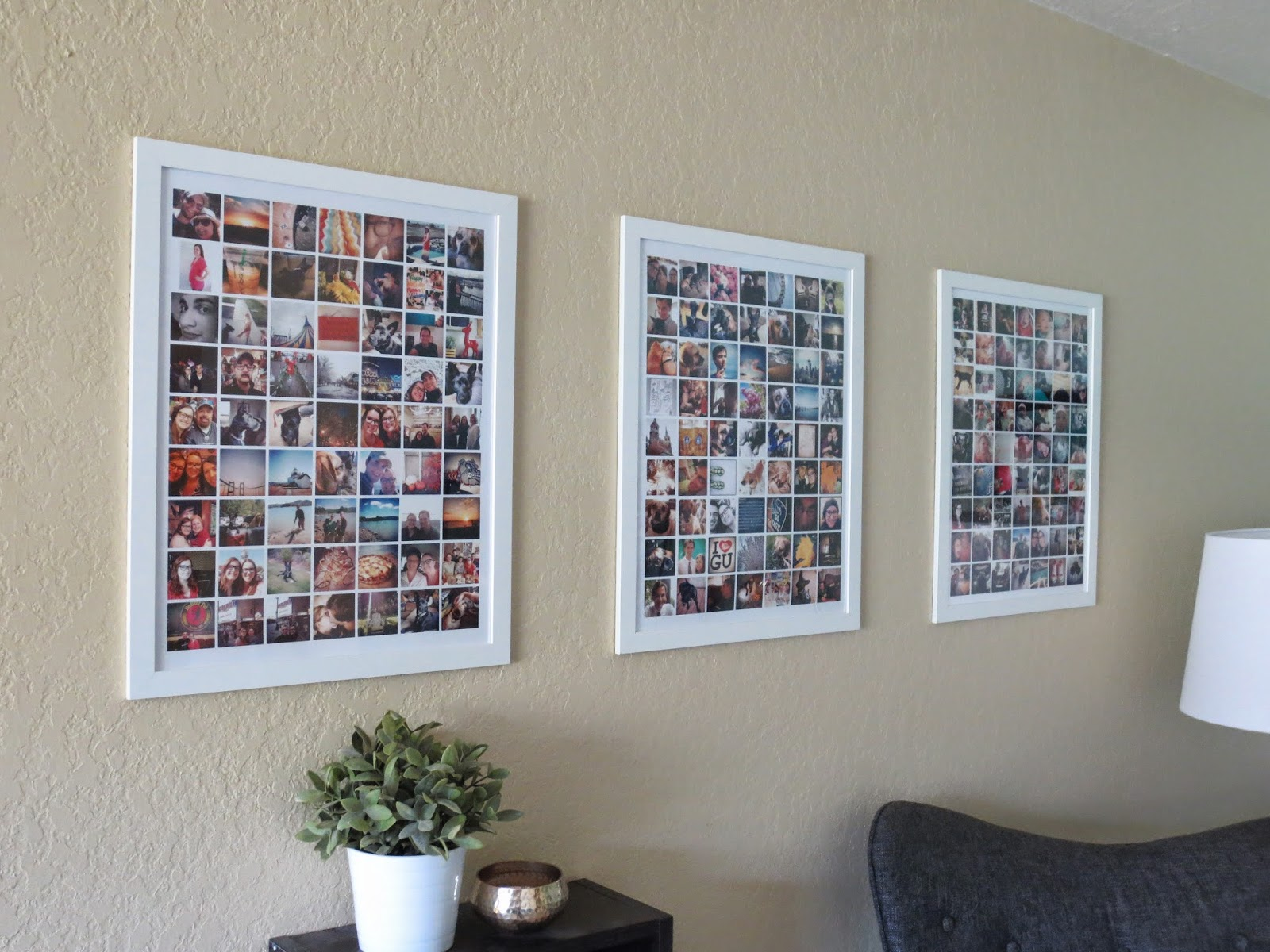 Make bake and love diy instagram collage prints for Diy photographic mural