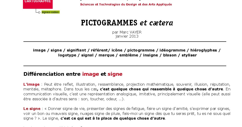 Arsa live pictogrammes et c tera for Atc std2a