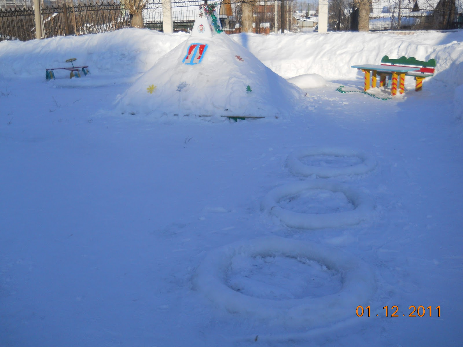 Фото зимних детских участков в детском саду своими руками