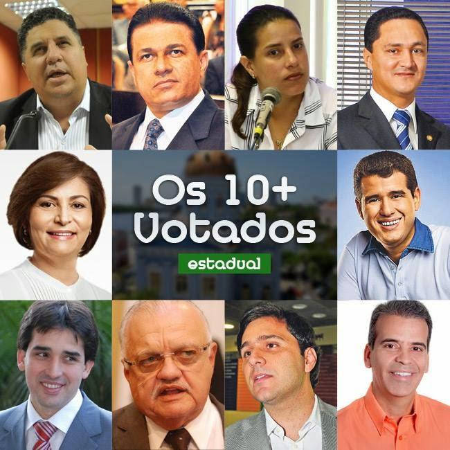 Os 10 Deputados estaduais mais votados no estado de Pernambuco