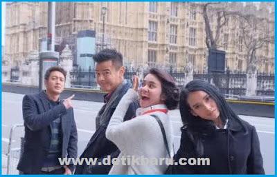 Para Pemeran Film London Love Story Saat Syuting di London