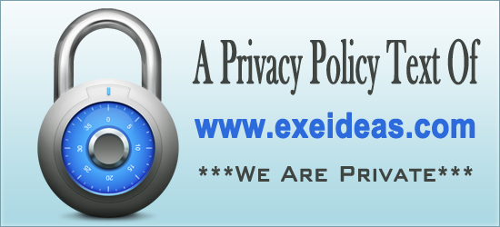 A Privacy Policy Text Of www.exeideas.com