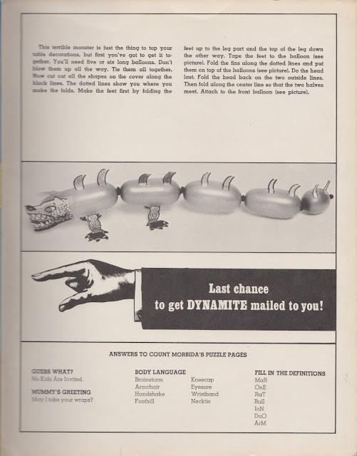 Garage Sale Finds: Vintage 1975 Dynamite Kid's Magazine - Halloween Monster Bash