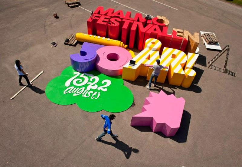 cartel gigante en tres dimensiones Festival Malmö
