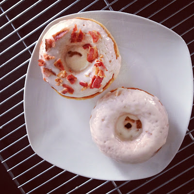 ... Donuts - Weeks 2: Maple Donuts with Maple Glaze and Bacon Crumbles