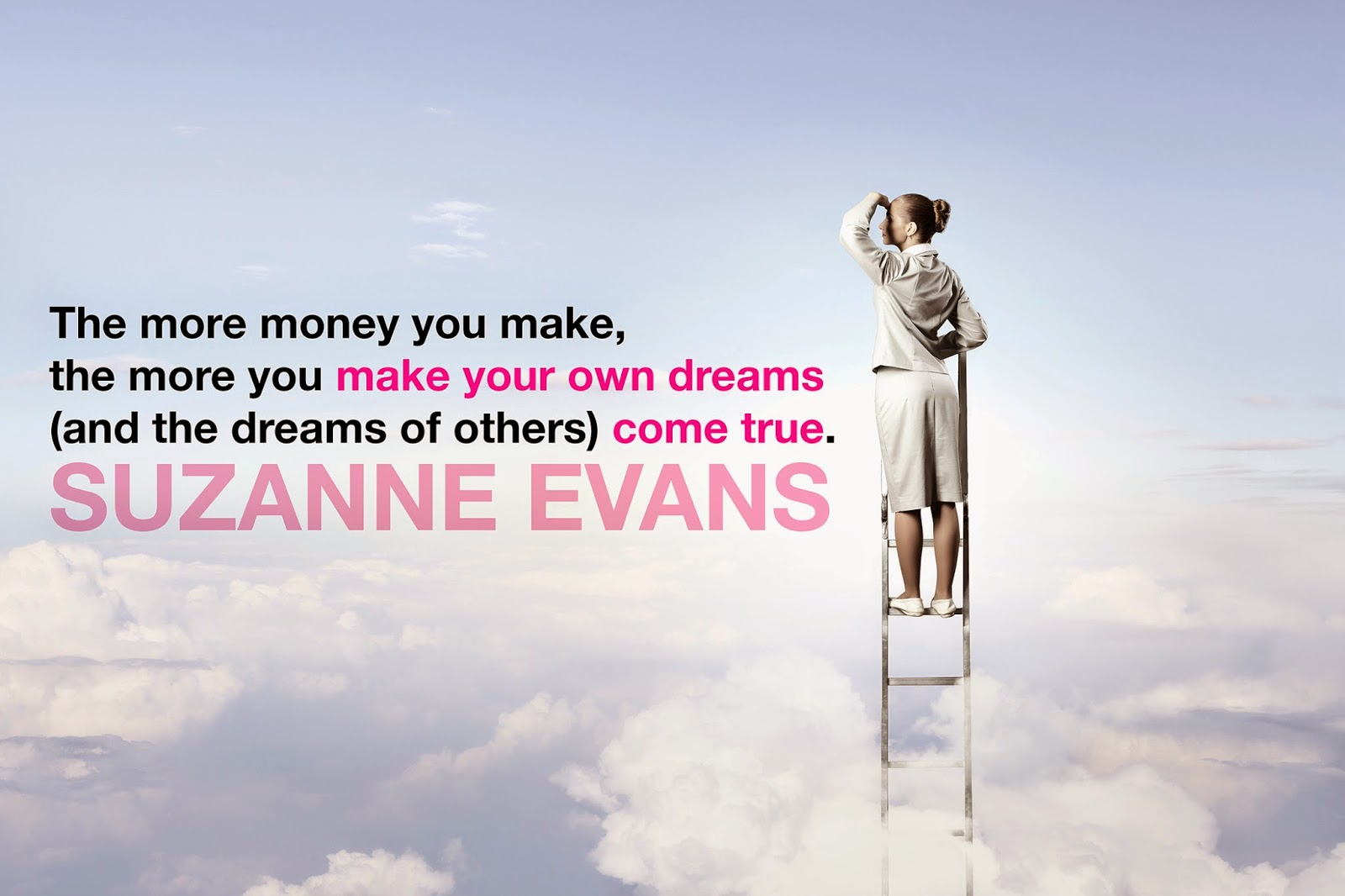 Success Builds, Suzanne Evans quote