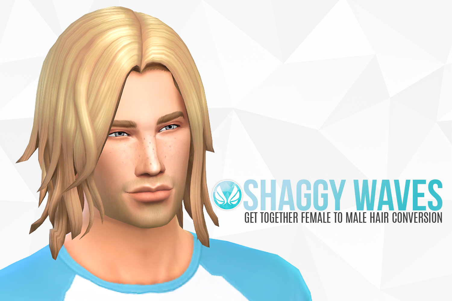 my sims 4 blog shaggy waves   gt female to male hair