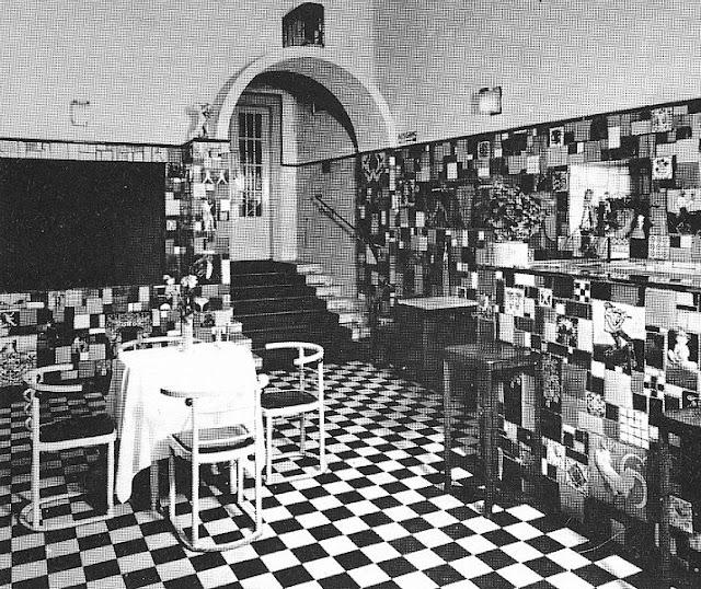 Cabaret Fledermaus Vorraum um 1907