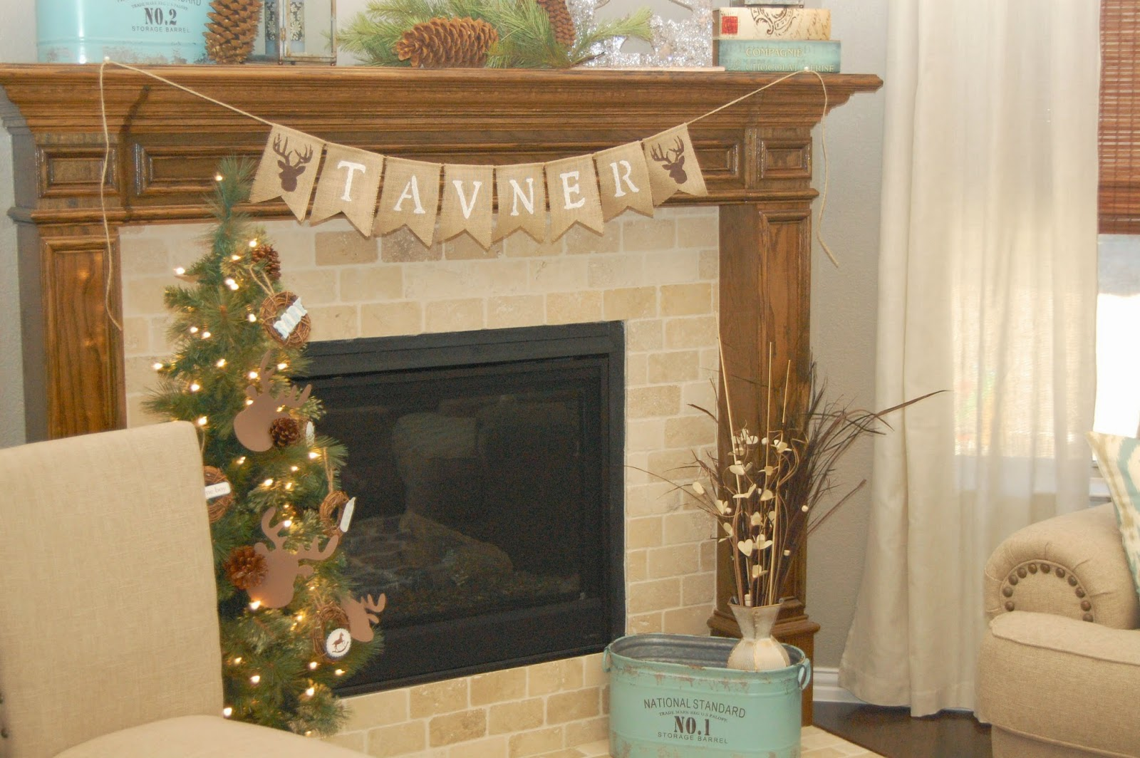 Woodland Baby Shower mantle bunting banner