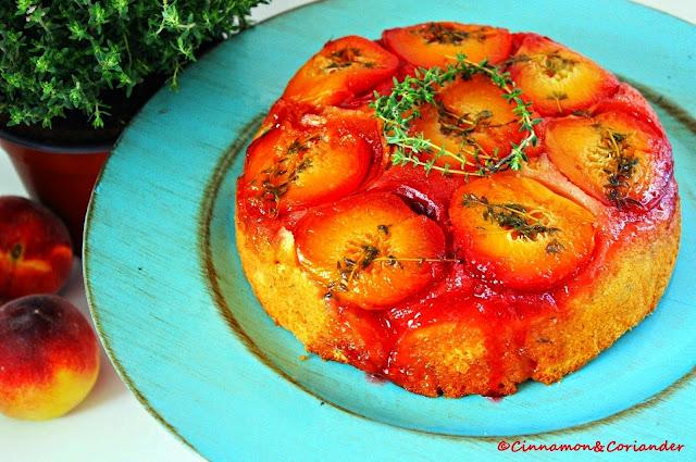 Peach Thyme Upside Down Cake