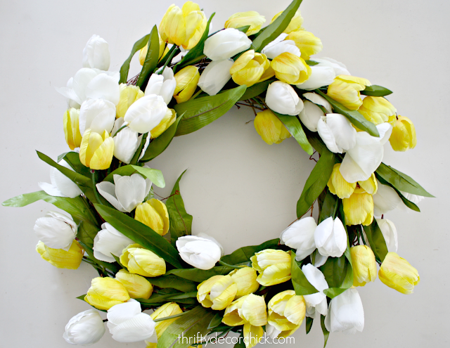 DIY large tulip wreath for a fraction of the cost