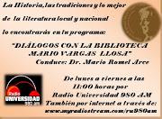 DIÁLOGOS CON LA BIBLIOTECA REGIONAL MARIO VARGAS LLOSA