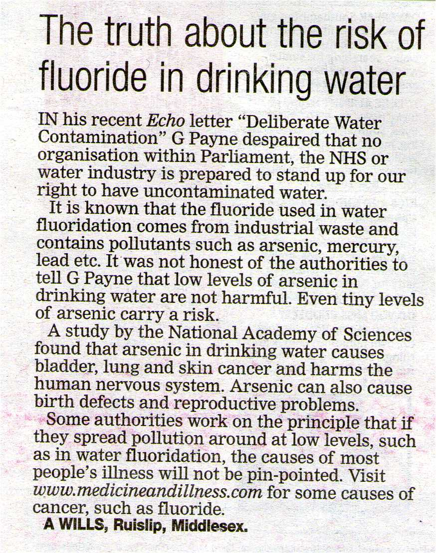 Fluoride Action Network | Cancer