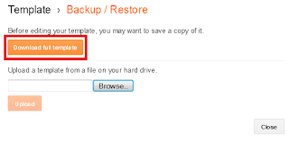 backup template blog