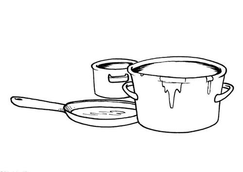 Trastes de cocina para colorear imagui - Dibujos de cocina para colorear ...