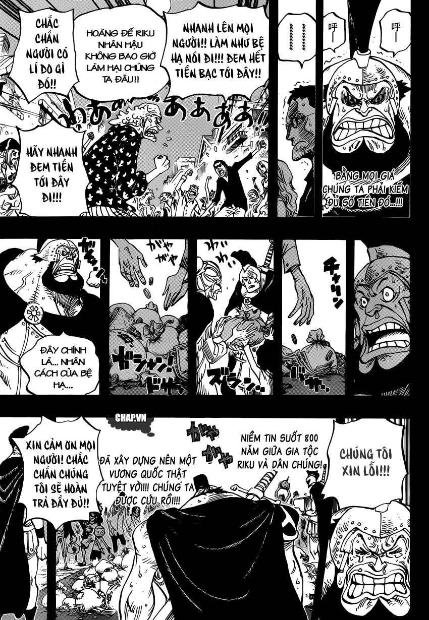 """One Piece Chapter 727: """"Anh hùng"""" mai phục 013"""